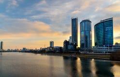View of Yekaterinburg-City on sunset. Russia Stock Photo