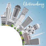 Yekaterinburg Skyline with Gray Buildings and Copy Space. Stock Photos