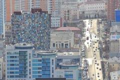 Yekaterinsburg Panoramablick der Malyshev-Straße Zentraler Bezirk Russland stockfotos
