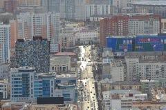 Yekaterinsburg Panoramablick der Malyshev-Straße Zentraler Bezirk Russland lizenzfreie stockfotos