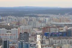 Yekaterinsburg Panoramablick der Malyshev-Straße Zentraler Bezirk Russland lizenzfreie stockbilder