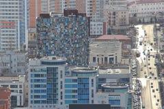Yekaterinsburg Panoramablick der Malyshev-Straße Zentraler Bezirk Russland stockbild