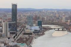 Yekaterinsburg-Stadt Das zentrale Teil der Stadt stockfotografie