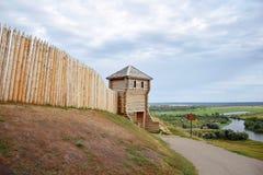 Watch tower. Devil`s Settlement. City Elabuga. Tatarstan. royalty free stock photos
