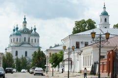 Yelabuga,   Tatarstan, Russia. The Spassky Orthodox Cathedral. Yelabuga, Tatarstan, Russia. The Spassky Orthodox Cathedral Royalty Free Stock Images