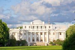 Yelagin宫殿在圣彼得堡,俄罗斯。 免版税库存图片