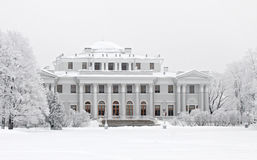 Yelagin a palace in the winter Royalty Free Stock Image