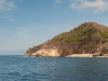 Yelapa的东部海岸线 免版税库存照片