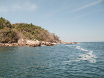 Yelapas western coastline. View of Yelapa, Jalisco, Mexicos western coastline Stock Photo