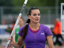 Yelena Isinbayeva Royalty Free Stock Photos