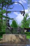 YELETS / LIPETSK, RUSSIA - MAY 08, 2017: monument to Ivan Bunin high school student stock photo