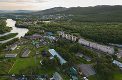 Yelizovo town on Kamchatka Peninsula. Stock Images