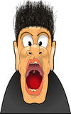 Yell_scream_02 Royalty Free Stock Image