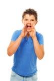 Yelling boy Stock Image