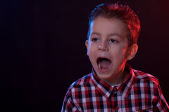 Yelling boy Royalty Free Stock Photography