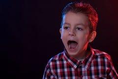 Yelling boy Royalty Free Stock Photography