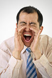 Yelling business man Royalty Free Stock Photography