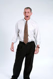 Yelling business man Stock Images
