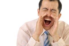 Yelling businessman Royalty Free Stock Photo