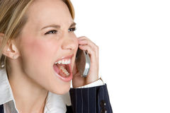 Yelling Businesswoman Royalty Free Stock Photos