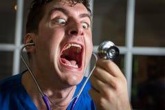 Yelling Crazy Nurse Stock Photography