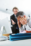 Yelling at an employee Stock Images