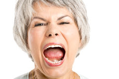 Yelling Expression Royalty Free Stock Photography