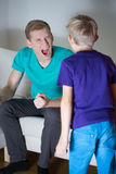 Yelling father Royalty Free Stock Photos