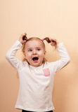 Yelling Girl Royalty Free Stock Photo