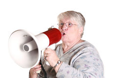 Yelling grandma Stock Photos
