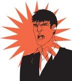 Yelling man Stock Image