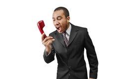 man yelling  Stock Image