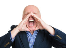 Yelling man Stock Photos