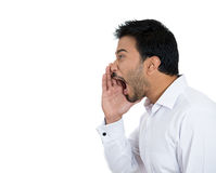 Yelling man Royalty Free Stock Image