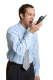 Yelling Phone Man Stock Photos