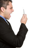 Yelling Phone Person Stock Photo