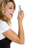 Yelling Phone Woman Royalty Free Stock Images