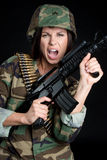 Yelling Soldier royalty free stock photos