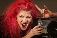 Yelling Teenage Girl Royalty Free Stock Photo