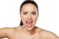 Yelling woman Stock Photography