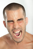 Yelling young man Stock Photos