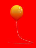 Yelllow balloon Stock Images