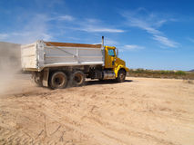 Yelllow Dump Truck Royalty Free Stock Photos