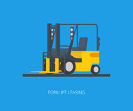 Yelllow forklift Stock Photo
