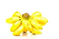 Yello banan od ogródu odizolowywającego na białym tle Obrazy Royalty Free