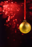 Yello Christmas ball Stock Photo
