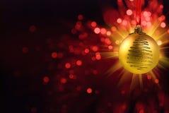 Yello Christmas ball Stock Photos