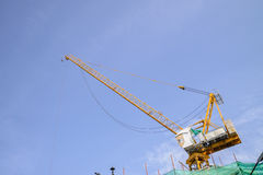 Yello crane boom Royalty Free Stock Photo