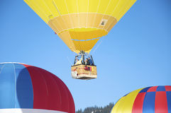 Yello hot air ballon Stock Images