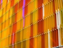 Yello intérieur de cinq niveaux de feuille en plastique acrylique et de couleur d'orange Photos libres de droits